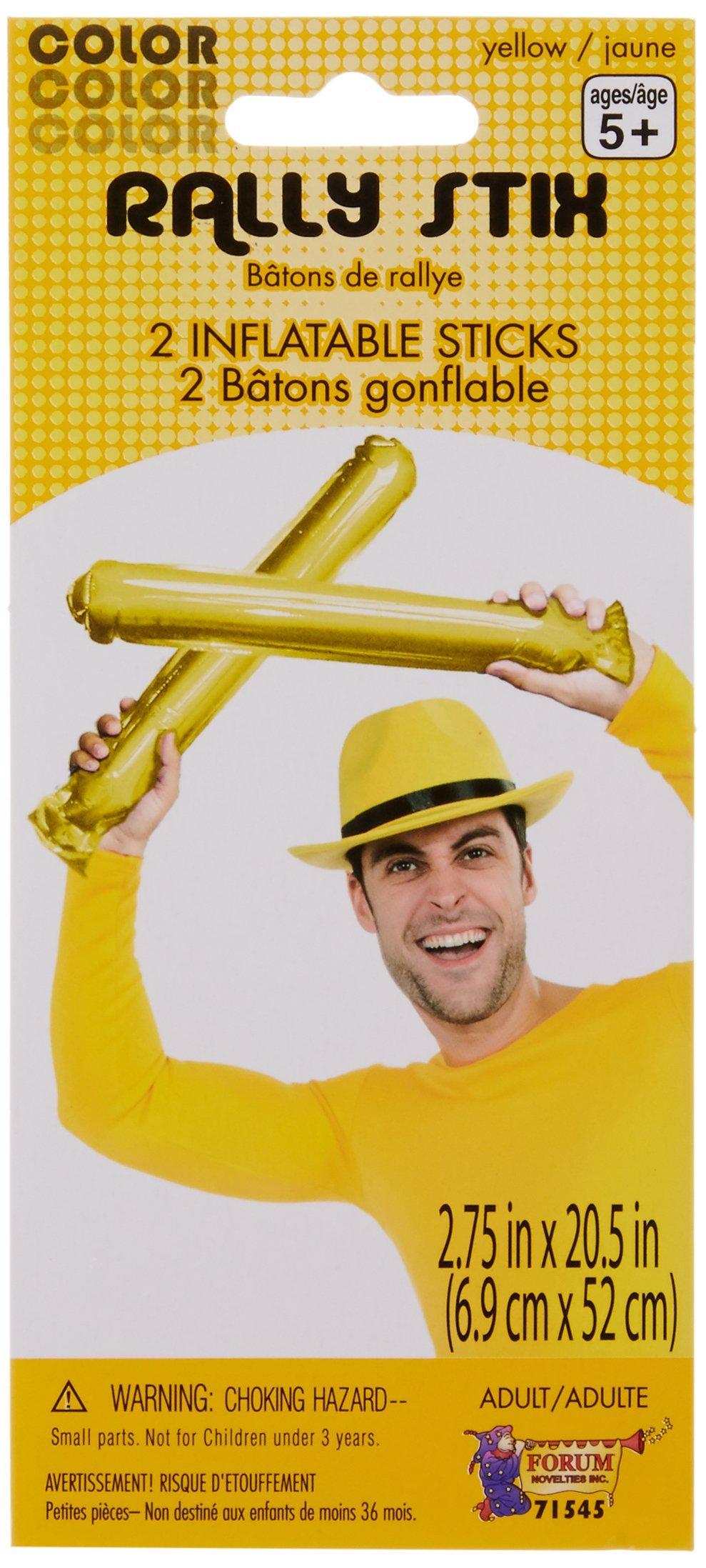Forum Novelties Yellow Inflatable Rally Sticks