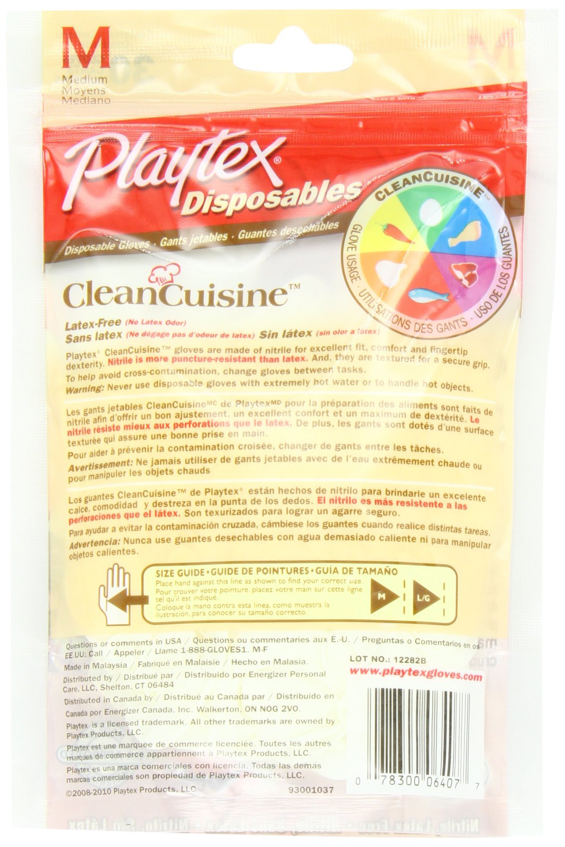 Playtex CleanCuisine Disposable Gloves Medium - 30-Count Package (Pack of 3) by Playtex (Image #2)