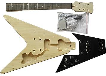 Guitarra eléctrica estilo FV - Kit de bricolaje - Construye tu propia guitarra: Amazon.es: Instrumentos musicales