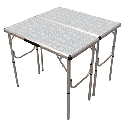Coleman Pack-Away 4-in-1 Adjustable Height Folding Camping Table : Camping Tables : Sports & Outdoors
