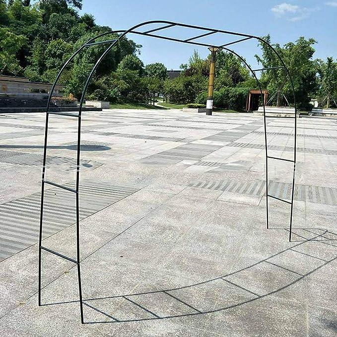 Diy metal boda arco decorativo jardín telón de fondo pérgola soporte flor marco para boda fiesta de cumpleaños decoración 2.4 m, verde, china: Amazon.es: Hogar