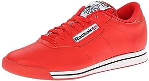 Reebok Women's Princess Classic Shoe, Techy Red/White/Black, 7.5 M US