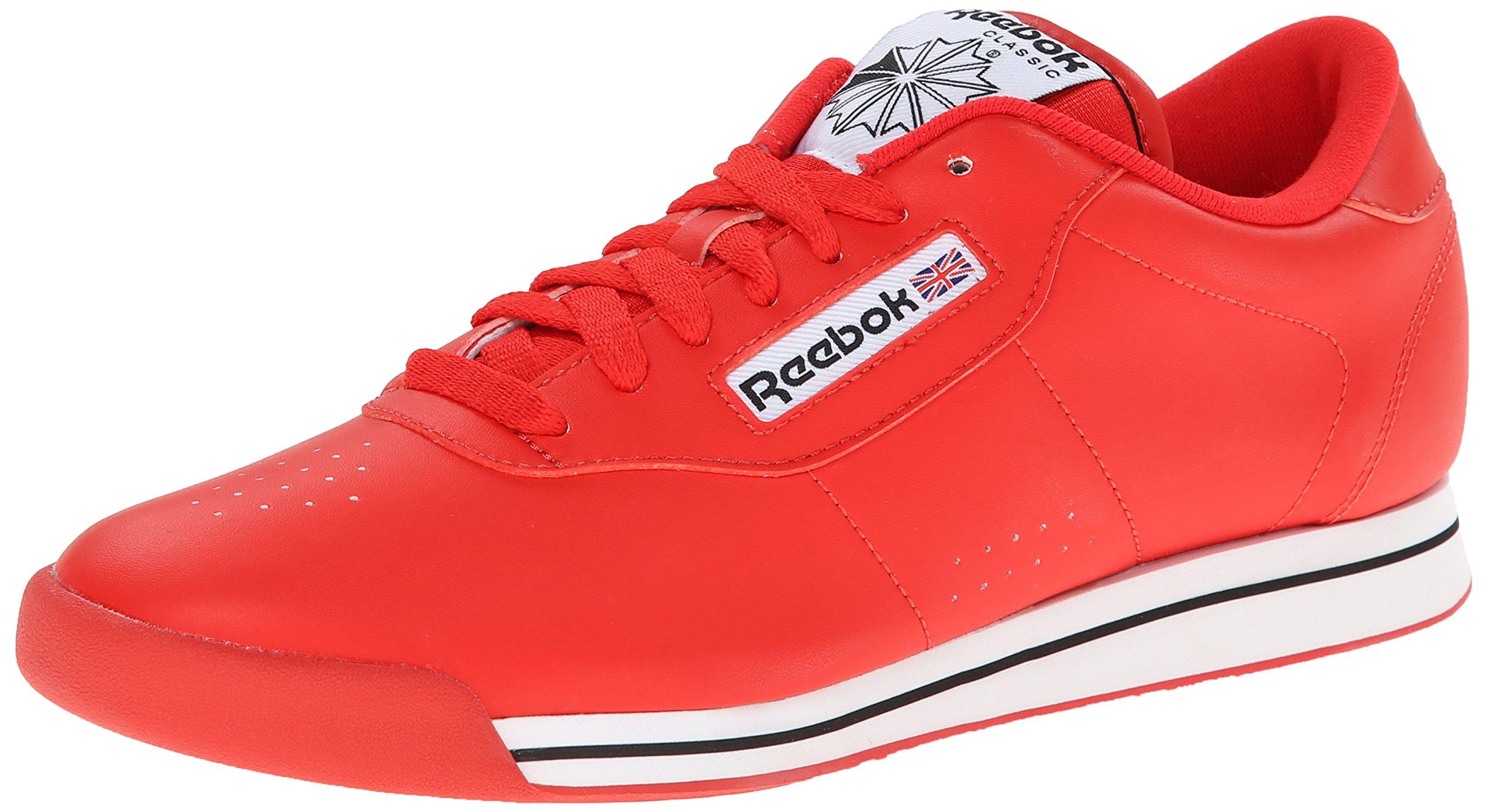 Reebok Women's Princess Classic Shoe, Techy Red/White/Black, 7 M US