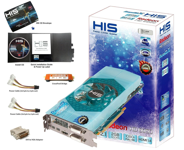 HIS ATI Radeon IceQ X Turbo X 2 GB HD6950 Tarjeta gráfica ...