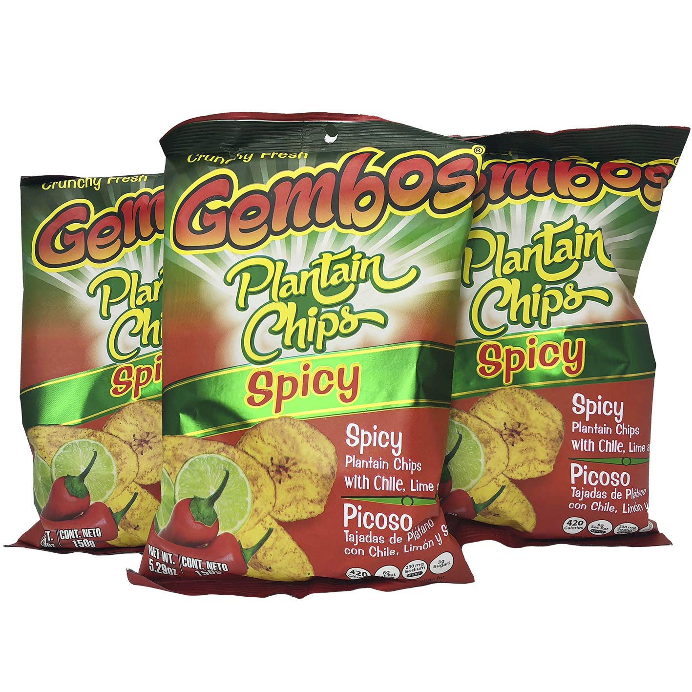 GEMBOS Plantain Chips Spicy/Picante 12-PACK