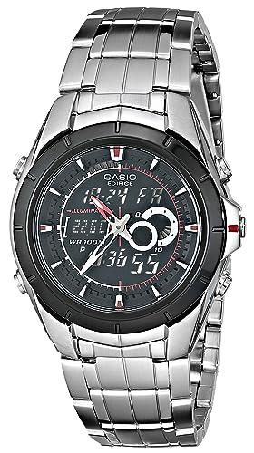 Casio Men's EFA119BK 1AV Ana Digi Edifice Stainless Steel Watch