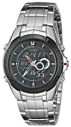 amazon com casio men s efa119bk 1av ana digi edifice stainless rh amazon com Reloj Fossil Reloj Puma