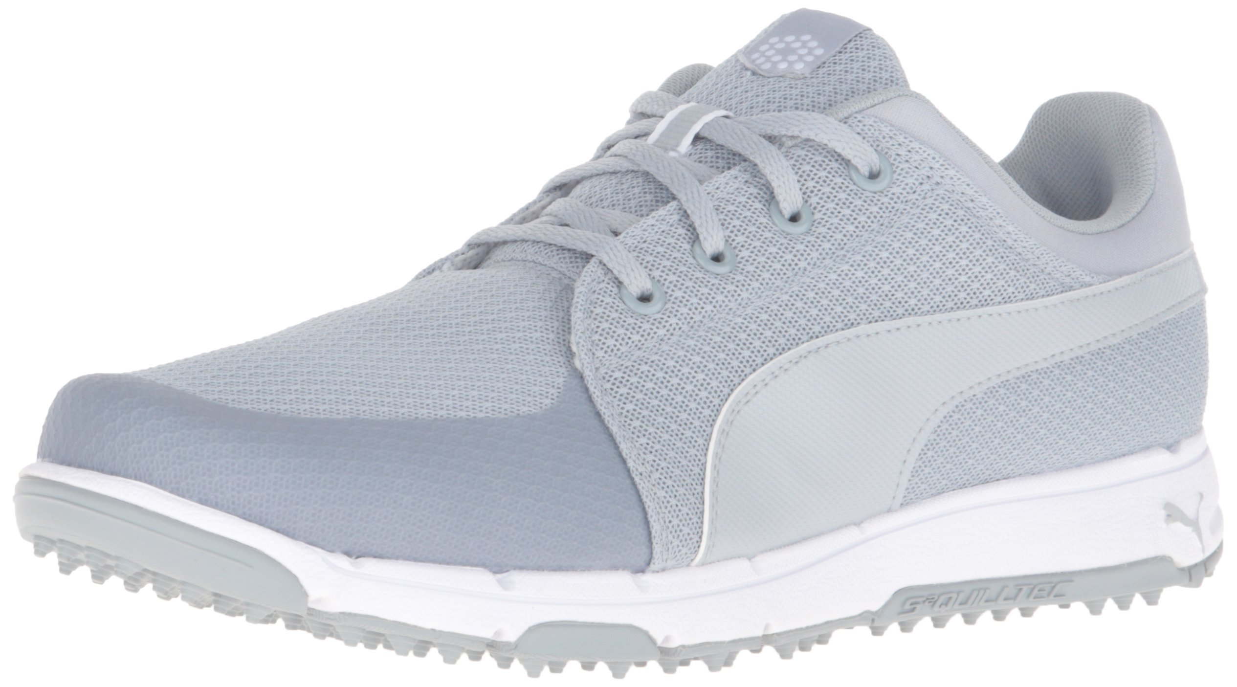 PUMA Men's Grip Sport Golf Shoe, Quarry/White, 10 Medium by PUMA
