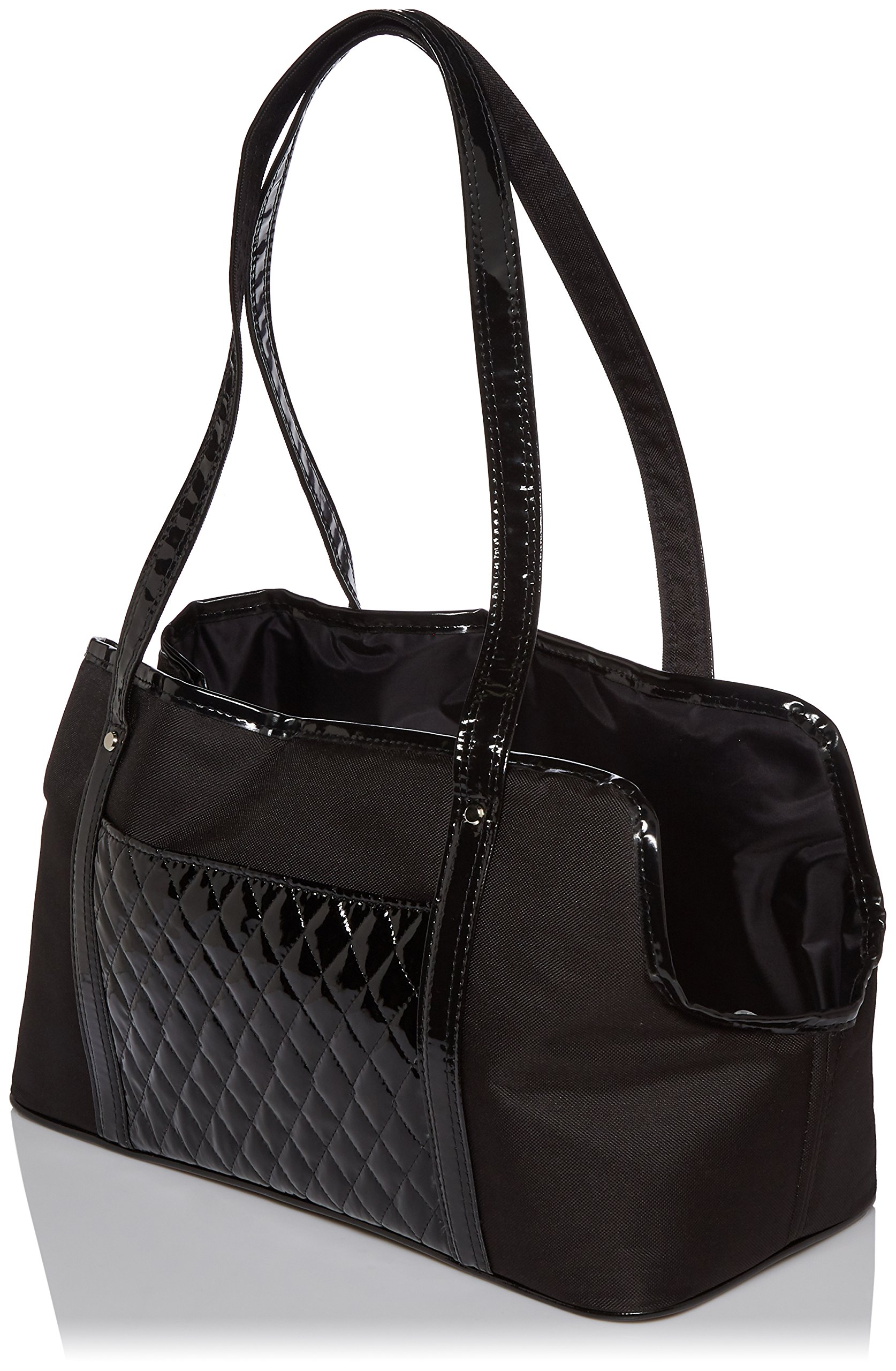 Petote Ella Summer Pet Bag, Black Quilted