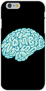 Apple iPhone 6 Custom Case White Plastic Snap On - Zombie Need Brain Funny Parody Cartoon Hungry for Brains