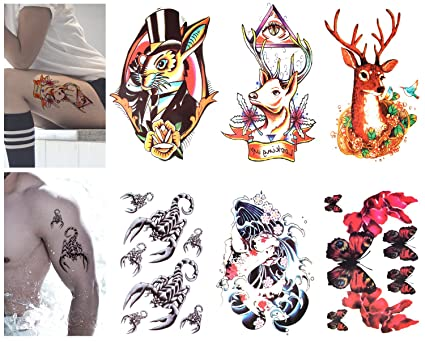Luxspire Autocollants Tatouage Temporaire Lot De6 Tatouage