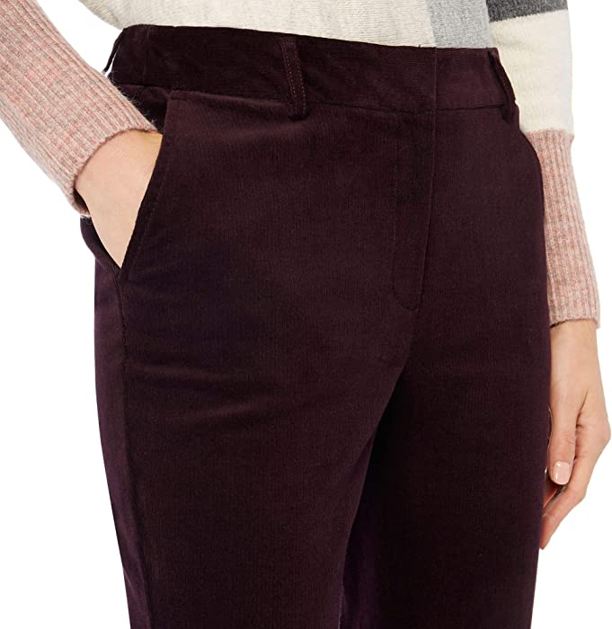 4aa48483c5c12 Principles Womens Dark Purple Corduroy Bootcut Trousers 8 ...
