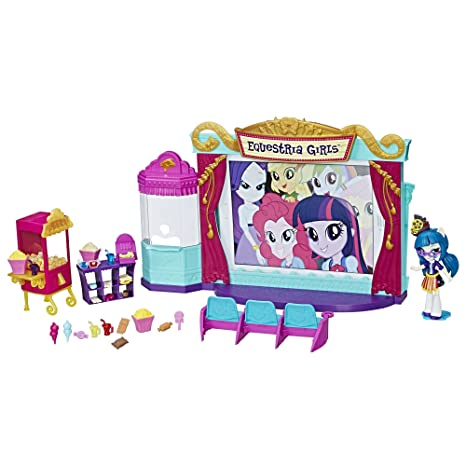 Amazon Com My Little Pony Equestria Girls Minis Movie Theater Toys Games