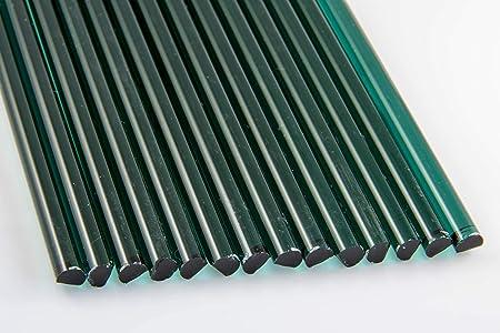 COE 33 Medium Dark Blue C Borosilicate Solid Rods 1 lb Devardi Glass Boro Rods