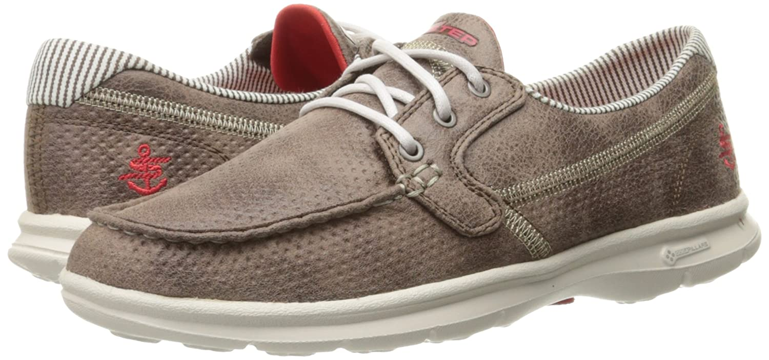 Skechers Walking Women's GO Step - Marina-BKW Boat Shoes B01IIBKKM0 Walking Skechers 1a2f6f