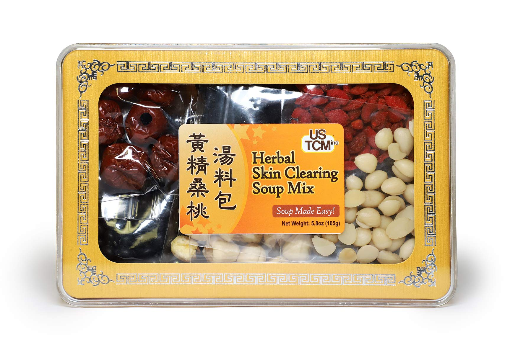 Herbal Fresh Skin Soup Mix Soup Base 黃精桑桃湯料包 Soup Made Easy! 3-4 Servings 5.8oz