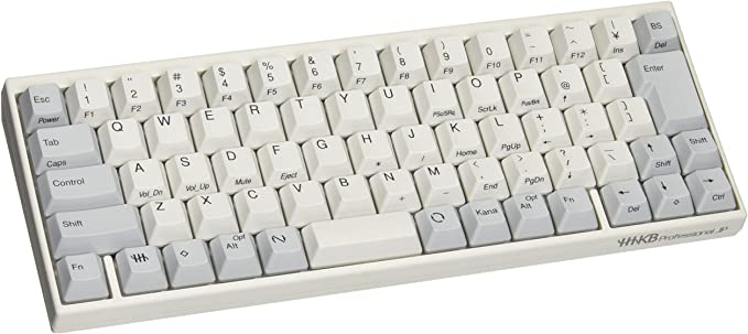 PFU Happy Hacking Keyboard Professional JP 日本語配列 白 USBキーボード 静電容量無接点 Nキーロールオーバー ホワイト PD-KB420W