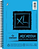 Canson XL Series Mix Media Paper Pad, Heavyweight, Fine Texture, Heavy Sizing for Wet or Dry Media, Side Wire Bound, 98 Pound, 5.5 x 8.5 In, 60 Sheets