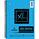 Canson XL Series Mix Paper Pad, Heavyweight, Fine Texture, Heavy Sizing for Wet or Dry Media, Side Wire Bound, 98 Pound, 5.5
