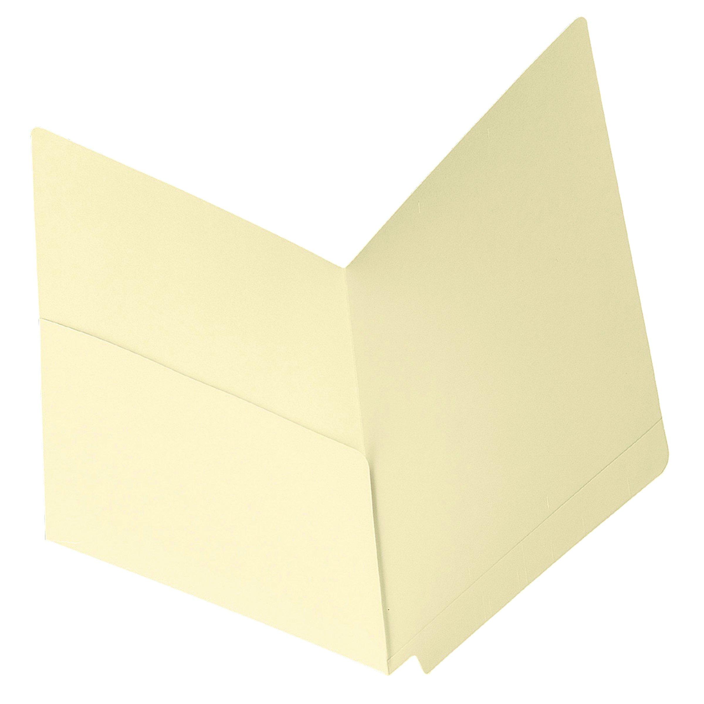 Smead End Tab File Pocket, Shelf-Master Reinforced Straight-Cut Tab, 1 Pocket, Letter Size, Manila, 50 per Box (24115) by Smead