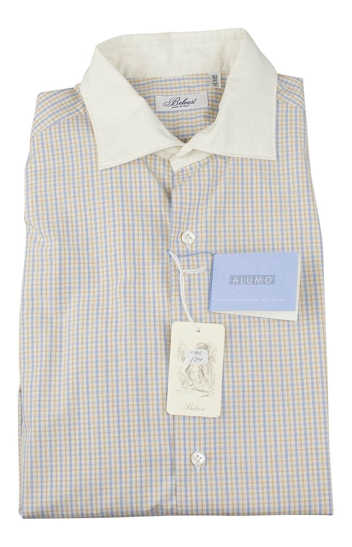 BELVEST Multi-Color Check Cotton Casual Shirt Size 40 EU 15.75 US