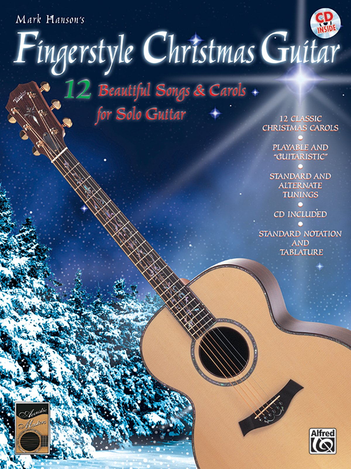 Amazon Mark Hansons Fingerstyle Christmas Guitar Book Cd