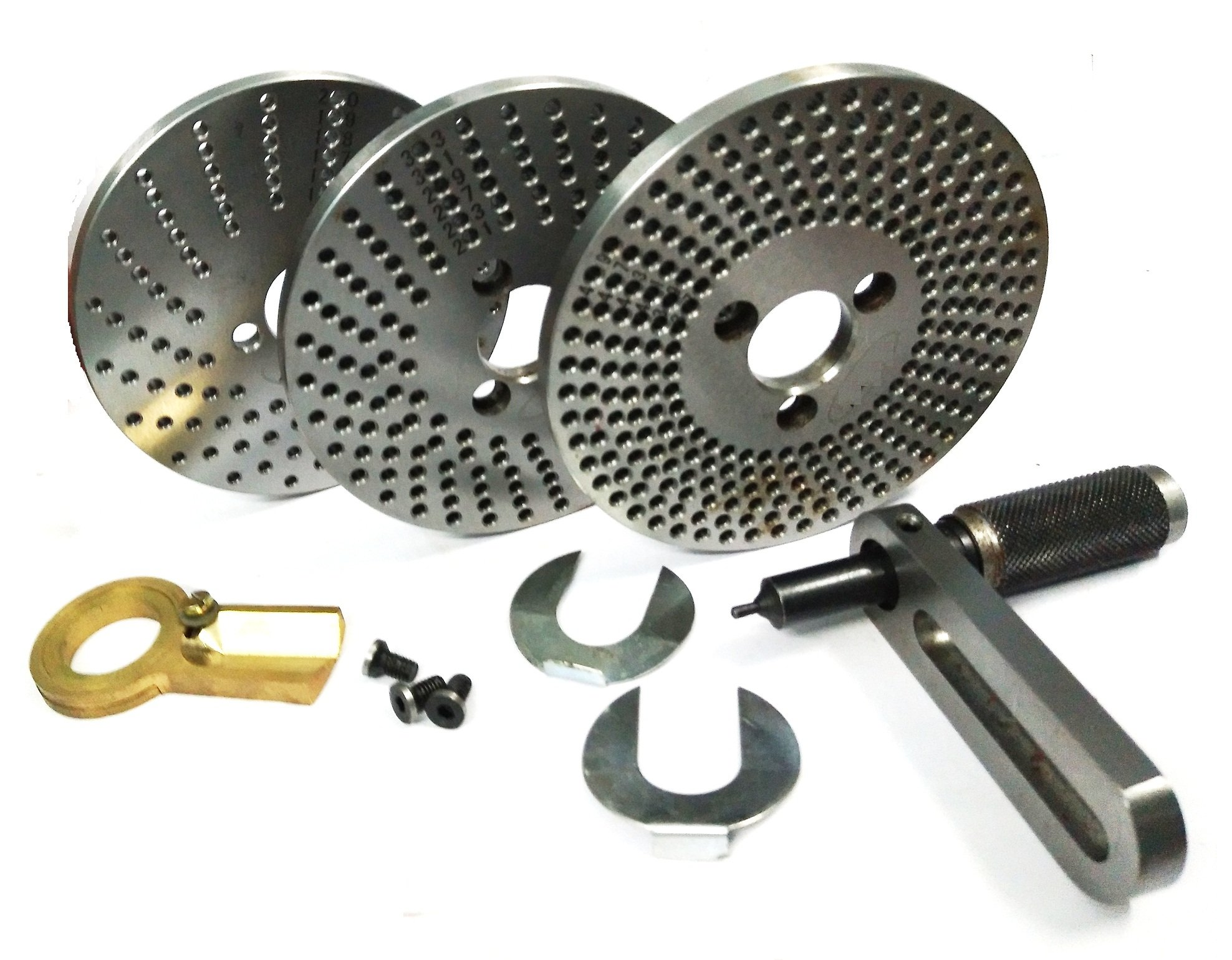 Steel Dividing Plates Set for HV4 /HV6 Rotary Table with Working Manual-Milling Indexing Kit