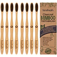 8-Pack Isshah Biodegradable Eco-Friendly Natural Compostable Bamboo Toothbrush