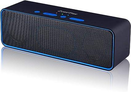 ZoeeTree S4 Altoparlante Bluetooth Slot per tessere TF Cassa stereo da 10 W con Bassi potenziati Microfono Integrato Nero Speaker Senza Fili con Dual Driver