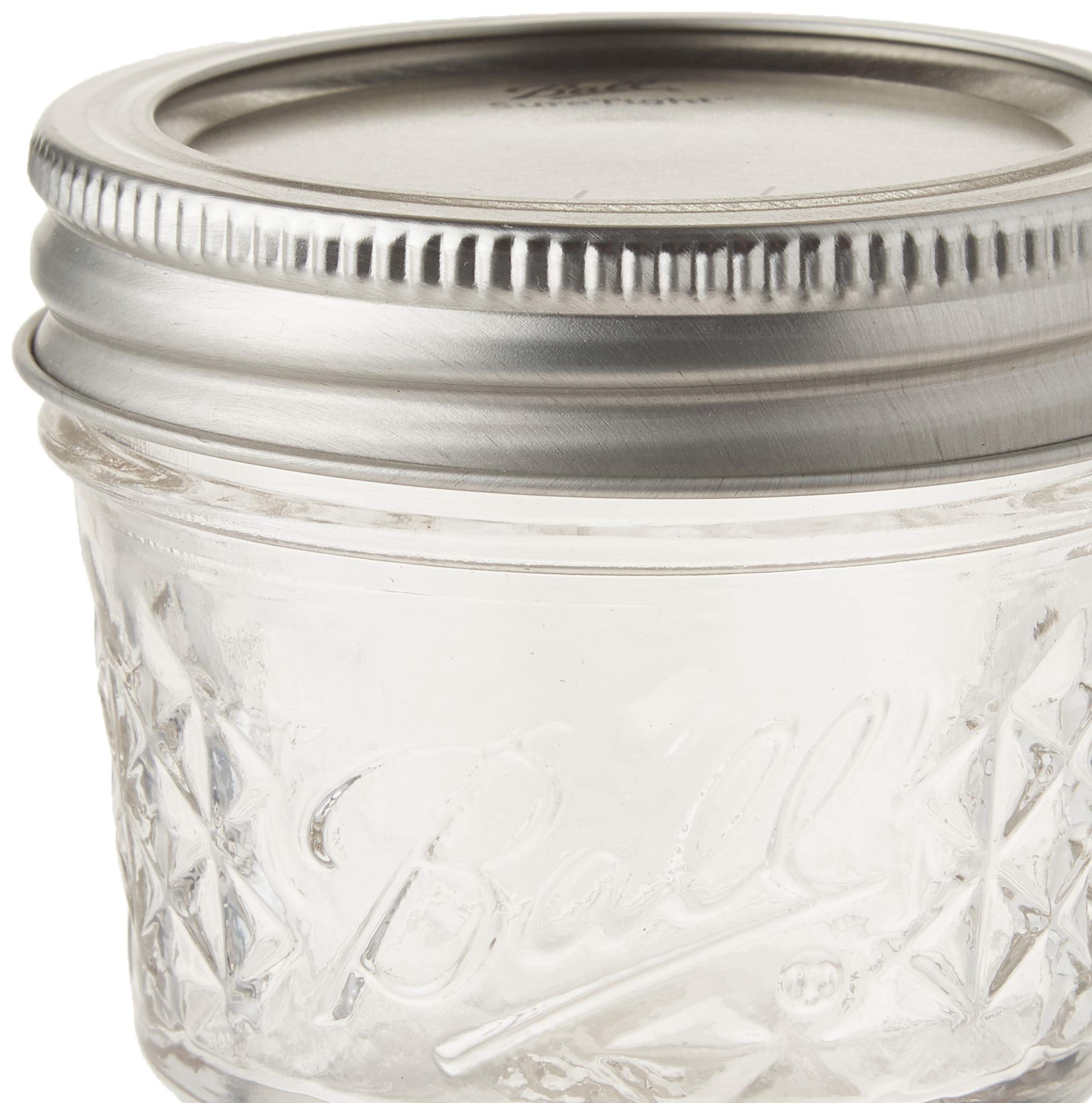 Ball 4-Ounce Quilted Crystal Jelly Jars with Lids and Bands, Set of 12-2 Pack (Total 24 Jars) by Ball (Image #3)