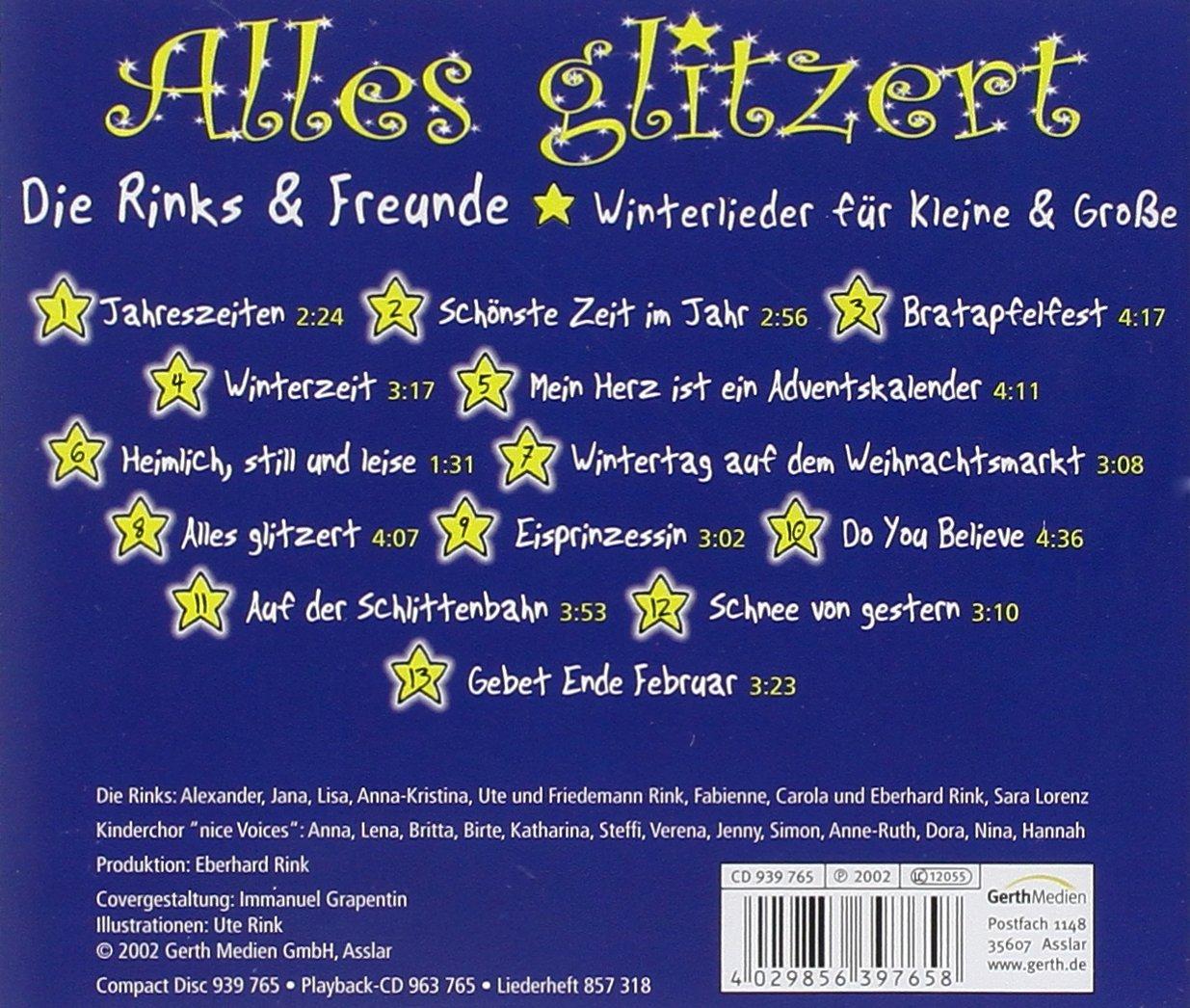 Alles glitzert - Winterlieder für Kleine & Große - Die Rinks: Amazon ...