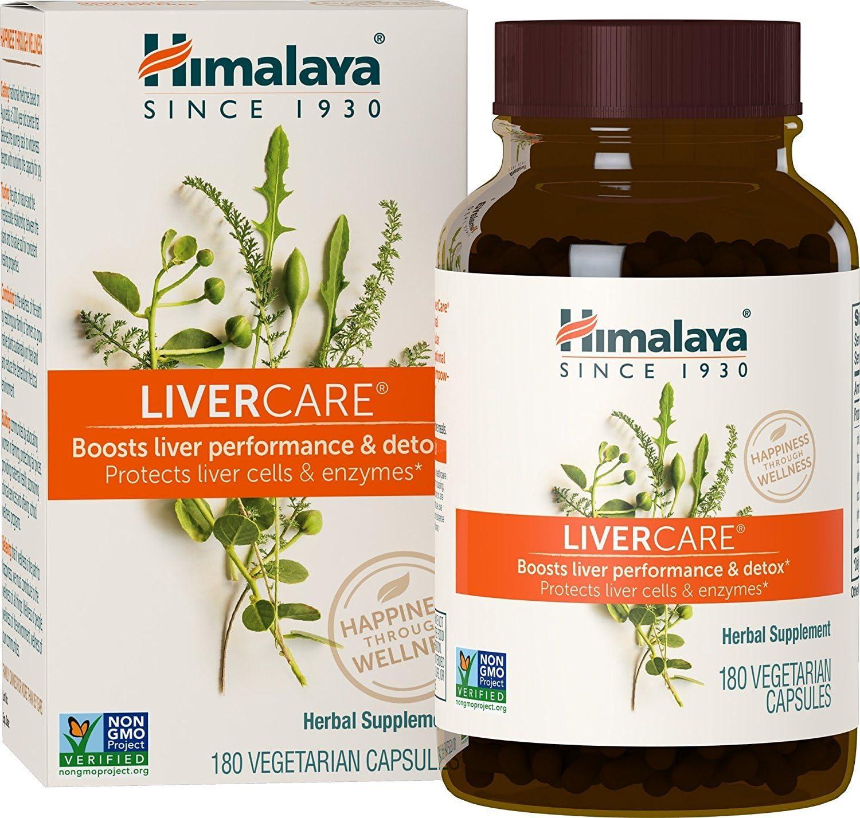 Himalaya LiverCare Liv.52, 180 Vegetarian Capsules for Liver Detox 375mg by Himalaya