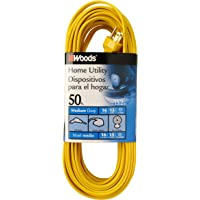 Woods 0832 SPT-2 16/3 50-Feet Flat Utility Extension Cord (Yellow)