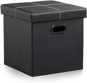 LARGE PREMIUM QUALITY CUBED BLANKET BOX,OTTOMAN,TOYS STORAGE,FOOTSTOOL