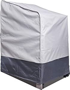 """AsterOutdoor Waterproof Patio Stackable Chair Cover,Heavy Duty 600D Oxford Fabric, UV Protection Patio Furniture Stackable Cover for Patio/Outdoor Dining Chairs, 30"""" W x 35"""" D x 45"""" H"""