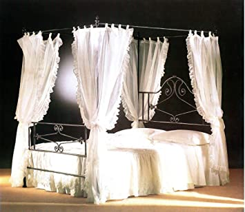 Letto Matrimoniale A Baldacchino In Ferro Battuto.Olimpo Val Lmb0539 Letto Matrimoniale Con Baldacchino In Ferro