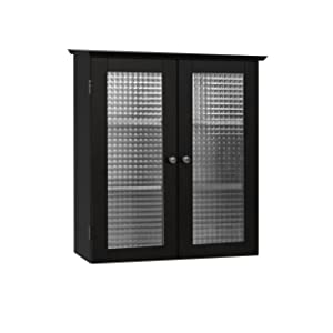 Elegant Home Fashions Chesterfield Collection Wall-Mount Medicine Cabinet with Tempered-Glass Doors