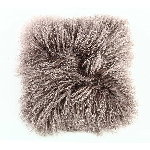 Cojín natural, diseño de oveja pelo largo, varios colores ...