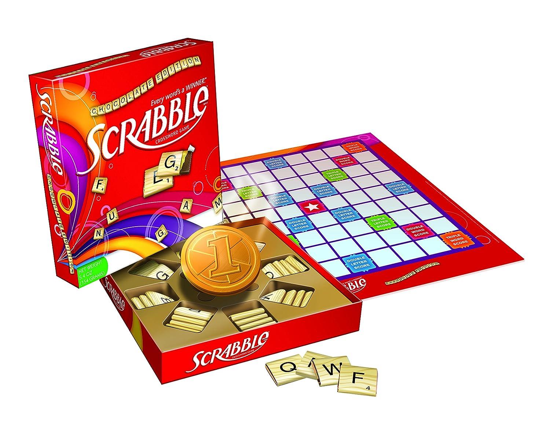 Amazon.com : Scrabble Chocolate Editions of Hasbro Games, 5.4 ...