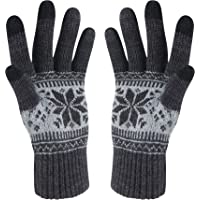 VENI MASEE Weihnachten Lover Snowprint Keep Warm Iphone Touch Screen Handschuhe