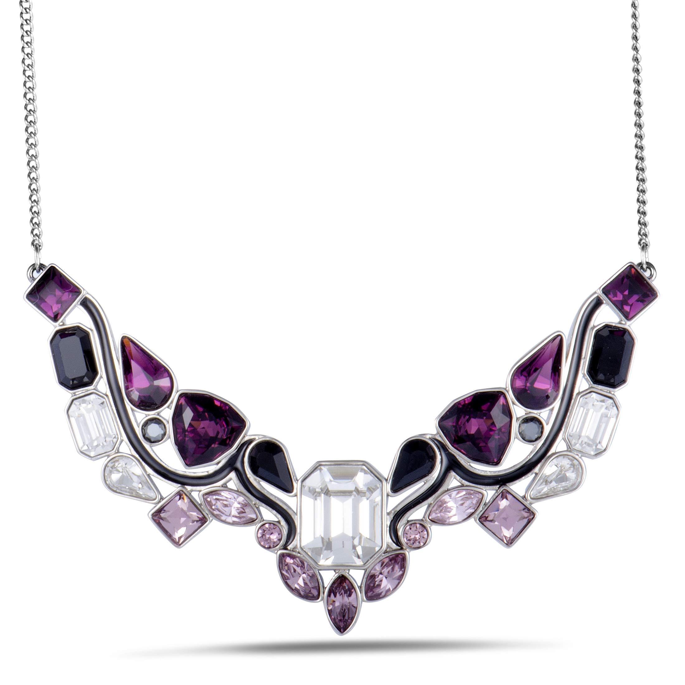 Swarovski Impulse 5152835 Multi Color Crystal Rhodium Plated Bib Necklace by SWAROVSKI