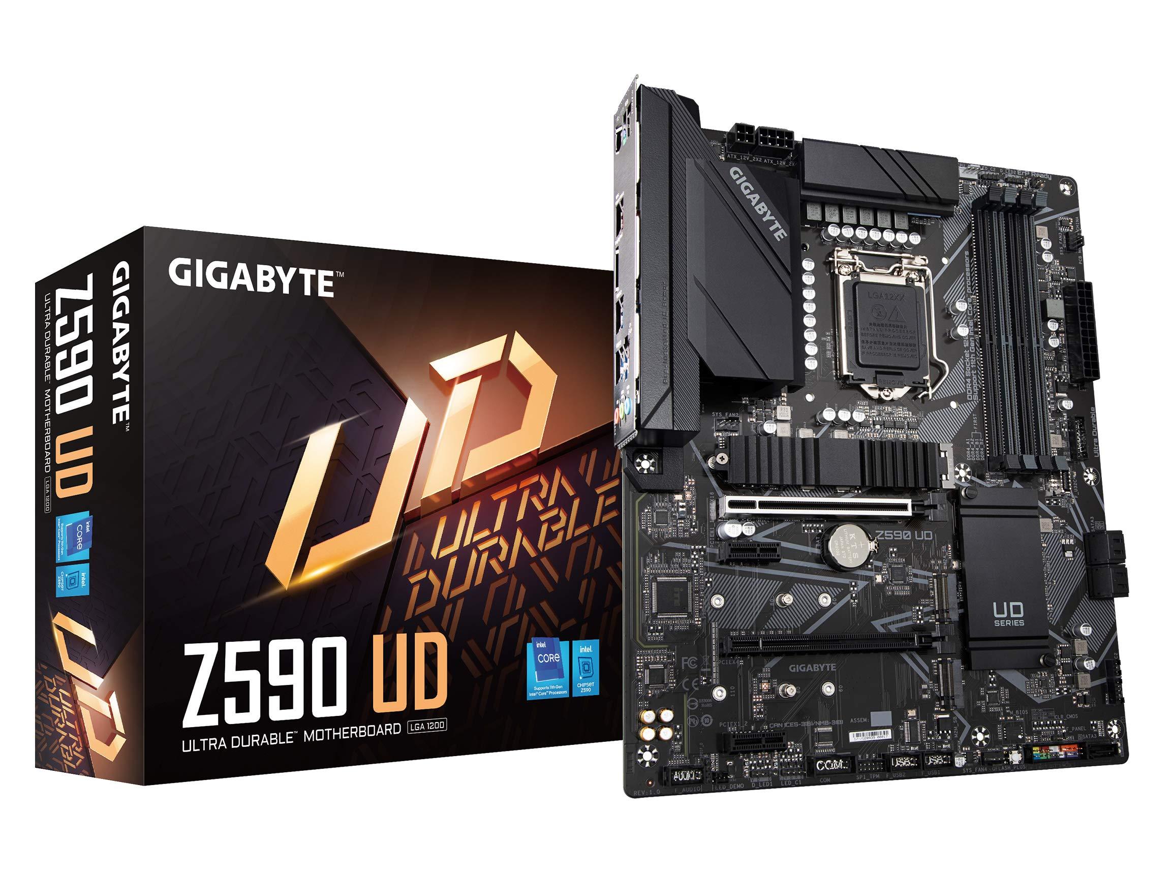GIGABYTE Z590 UD (LGA 1200/ Intel Z590/ ATX/ Triple M.2/ PCI
