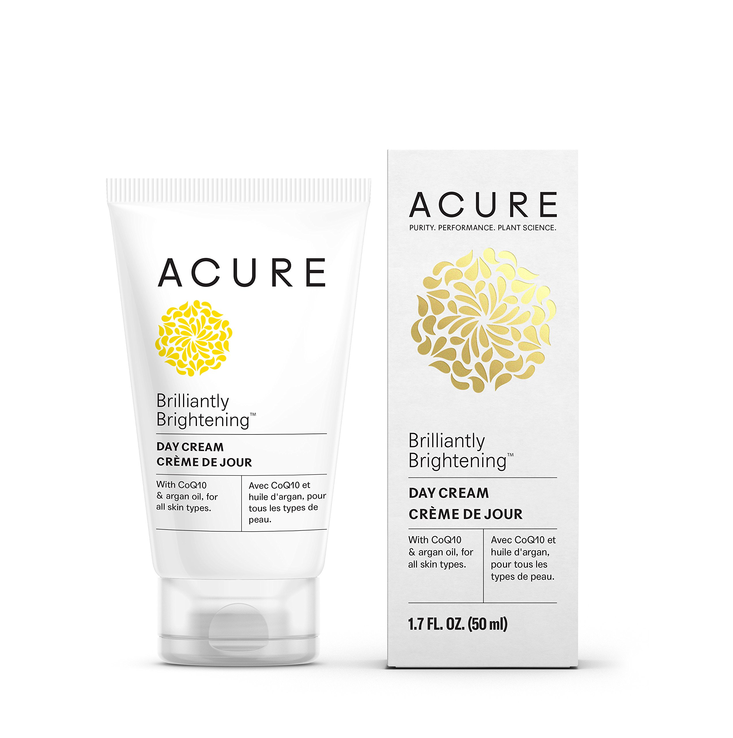Acure Brilliantly Brightening Day Cream, 1.7 Fluid Ounce (Packaging May Vary)