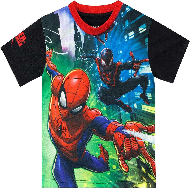 Marvel Camiseta de Manga Corta para niños El Hombre Araña: Amazon.es: Ropa y accesorios