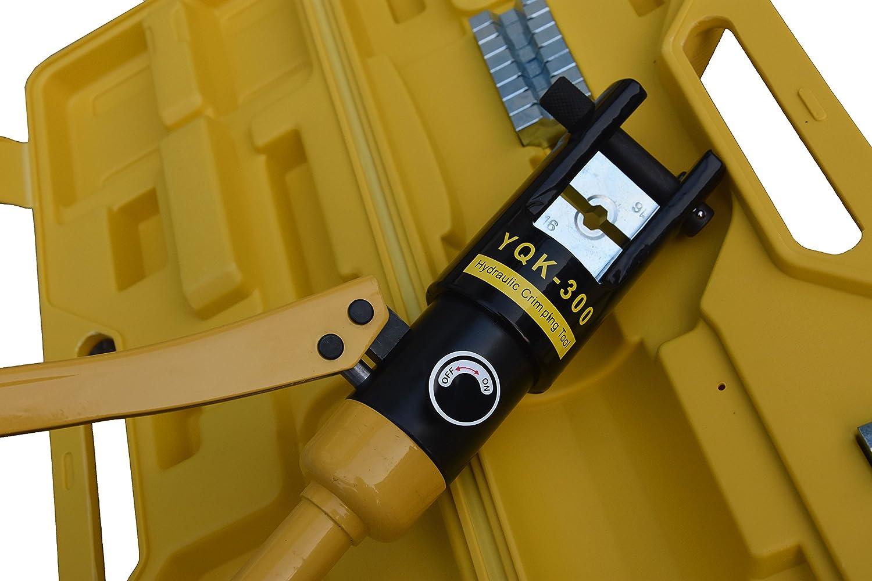 10-300 mm/² Presi/ón de Trabajo Crimpadora Hidr/áulica Herramienta Prensa para Cables
