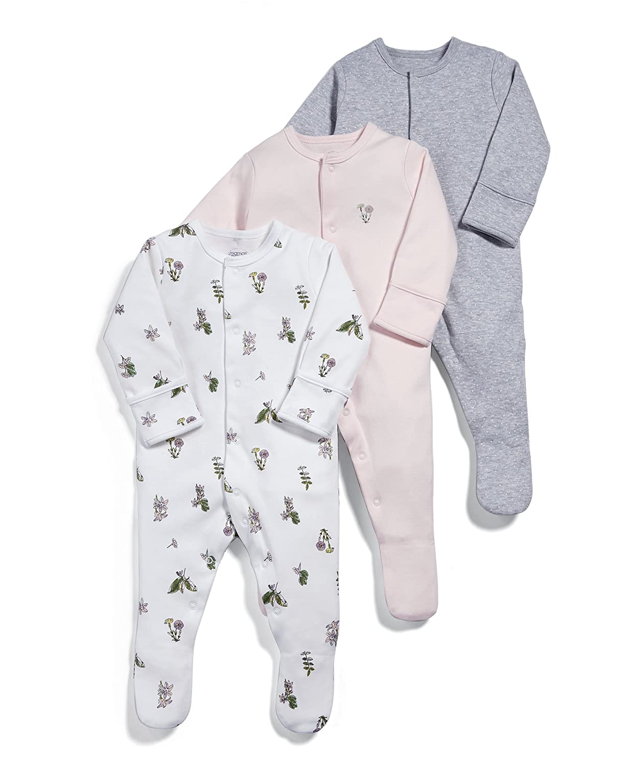Mamas & Papas Baby Girls' Sleepsuits Pack of 3 Mamas and Papas