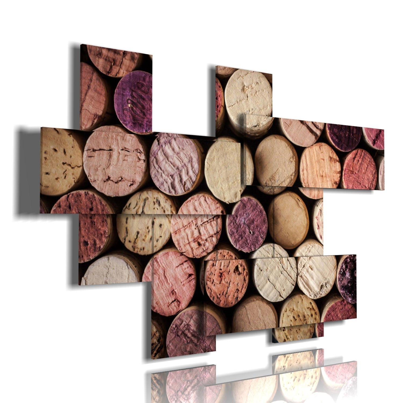 duudaart quadro moderno tappi multilivello 3d quadri moderni vino Dimensione Stampa S.r.l.