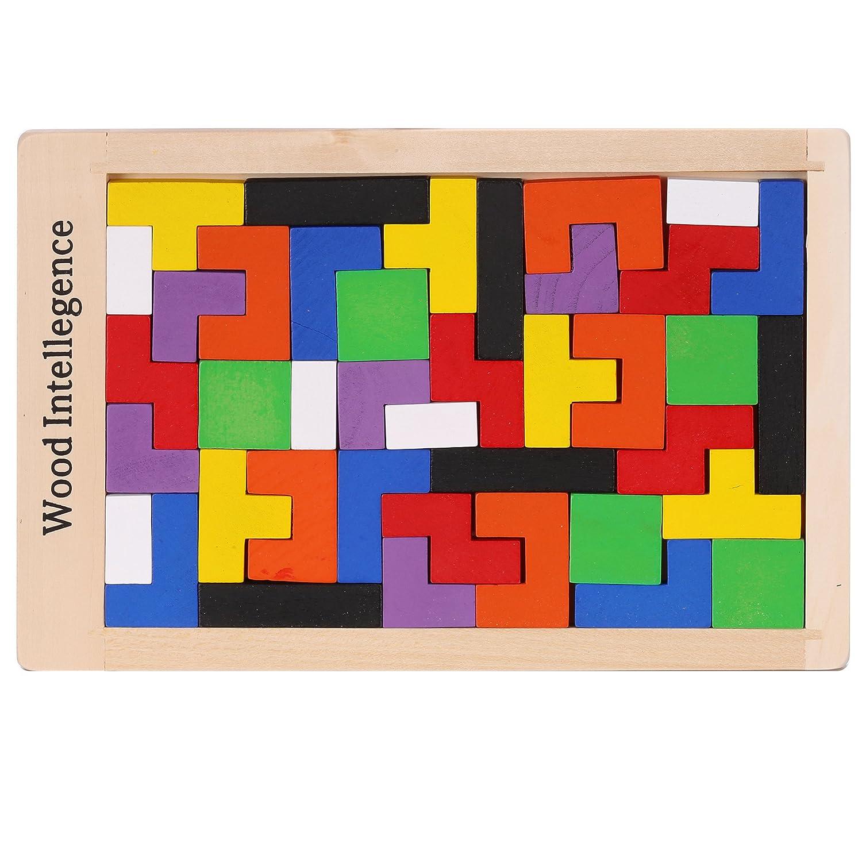 Arshiner Geometric Sorting Board Wooden Shape Sorter 20PCS Puzzle Building Block Toy Bricks for kids   B0114BJFGI