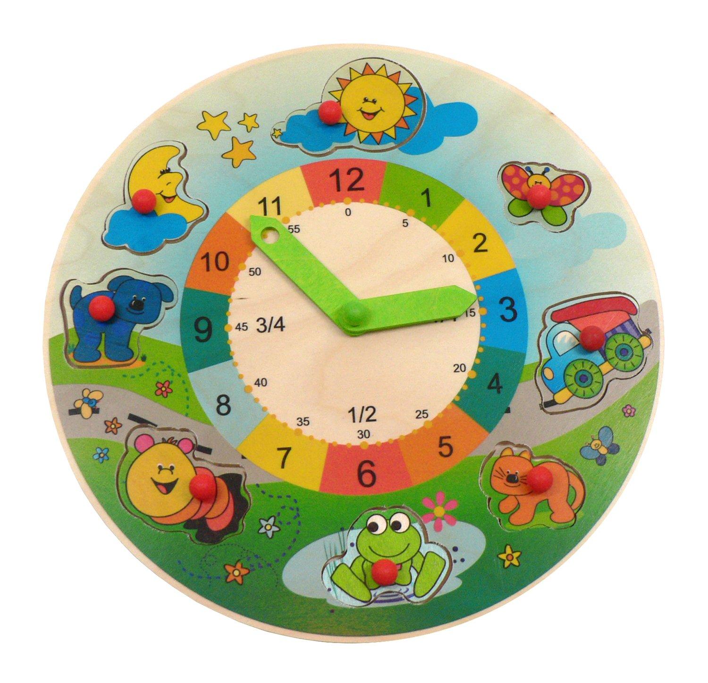 Hess Polypropylene Learning Clock Landscape Puzzle Baby Toy 29 cm
