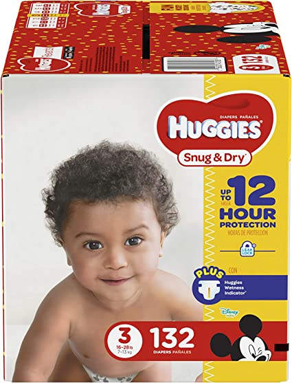 HUGGIES Snug /& Dry Baby Diapers Size Newborn 140 Count Packaging May Vary